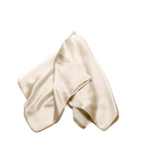 Silk scarves / pocket handkerchiefs - plain, whites and pale colours