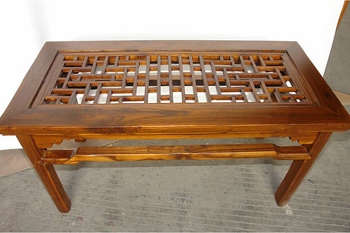 Carved elm bench or long seat