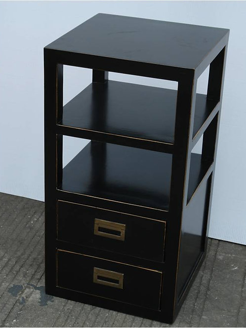 Beautiful elm ornamental cabinet with two drawers
