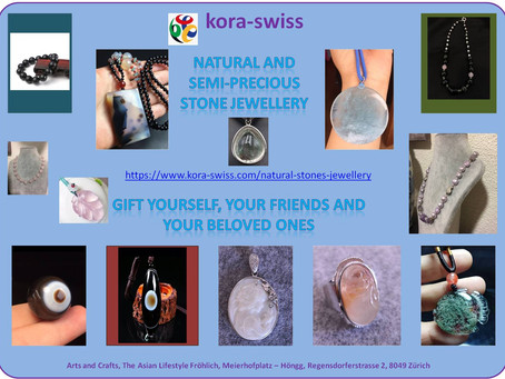 Natural Stone, semi-precious stone and crystal jewellery for sale.