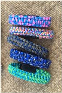 Paracord-style, woven bracelets (choice of various colours)