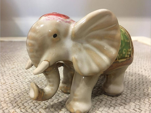 Porcelain elephant ornament