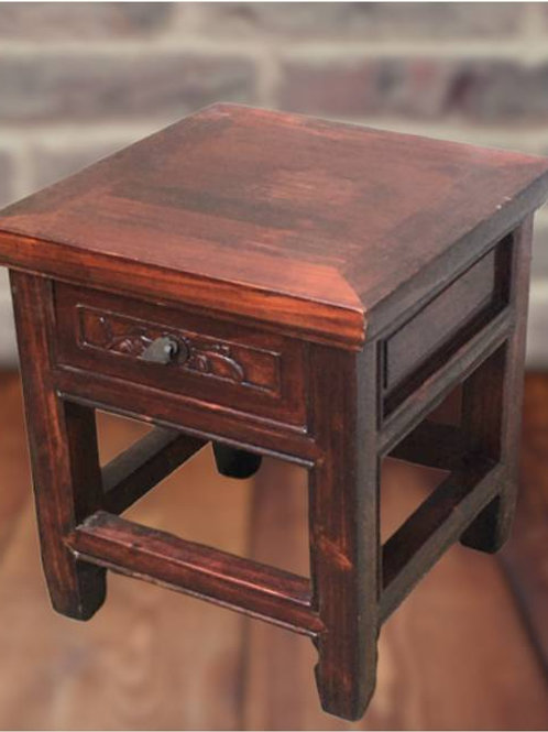 Beautiful birch stool with one drawer
