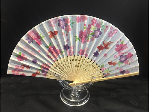 Fan - Cherry blossom and fish