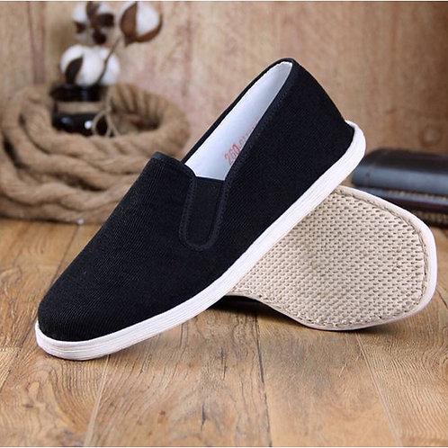 Handmade Cotton shoes for practising Gong Fu, Tai Qi (Tai Chi), elastic