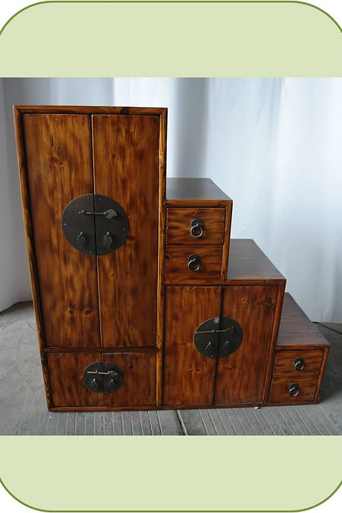 Beautiful elm cabinet four tier cabinet