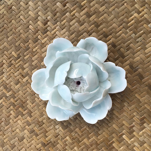 White peony flower for holding an incense stick