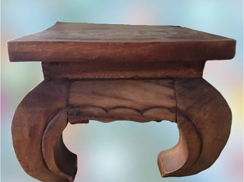High quality, opium style,  Millettia Laurentii (wenge wood) stool