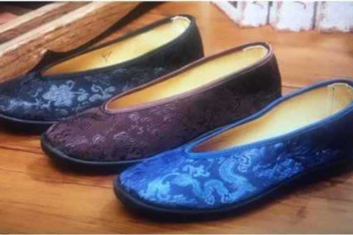Silk mixed cotton shoes, also for TaiQi