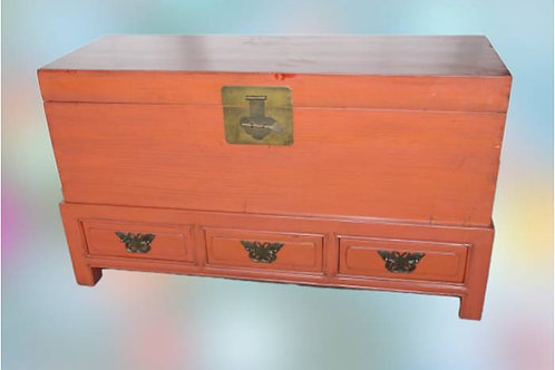 Trunk with three drawers