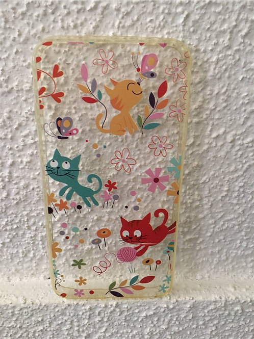 Transparent mobile phone case: Jumping Cats