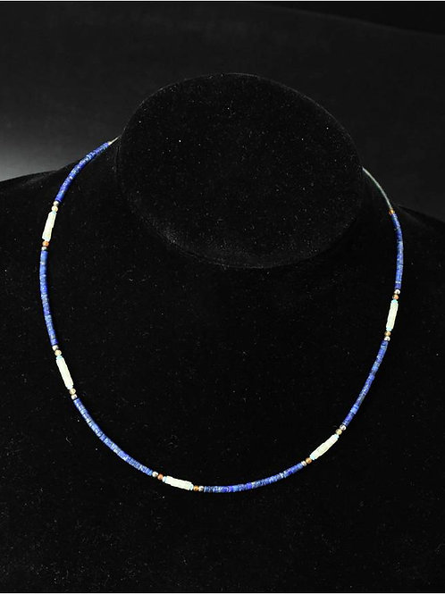 Handmade Lapis Lazuli necklace with Jade, Agate and Turquoise