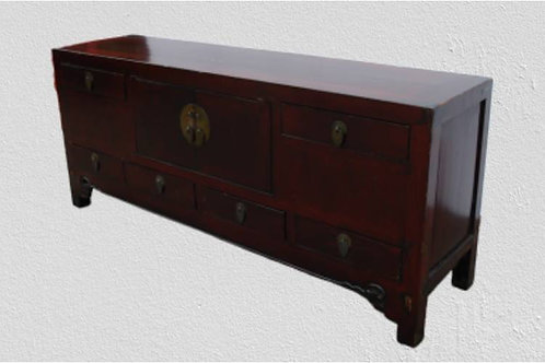 Long sideboard with two doors and six drawers