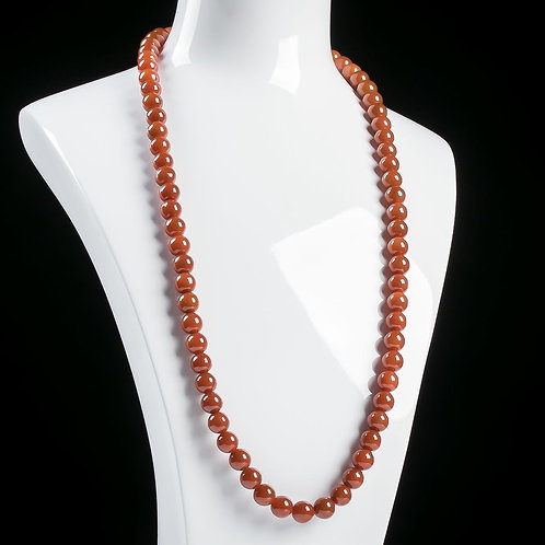 MADE-TO-ORDER Natural Red Jade Necklace 90cm