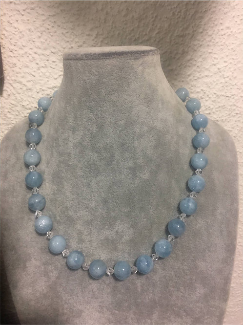 Handmade natural Aquamarine necklace