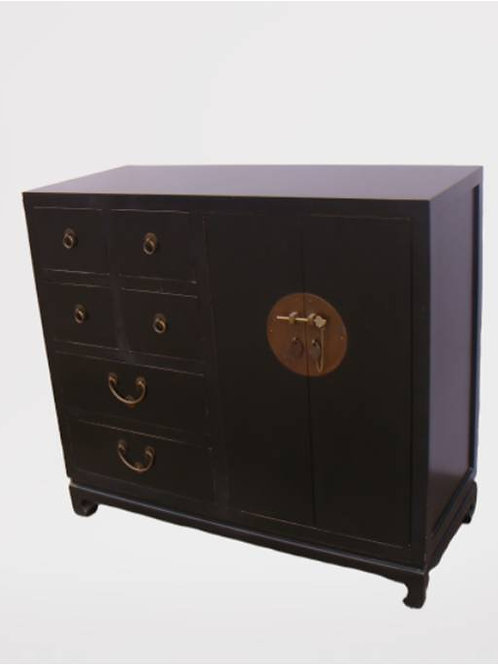 Cabinet with six drawers and two doors (various colours)