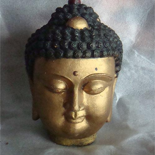 Small Buddha head statue