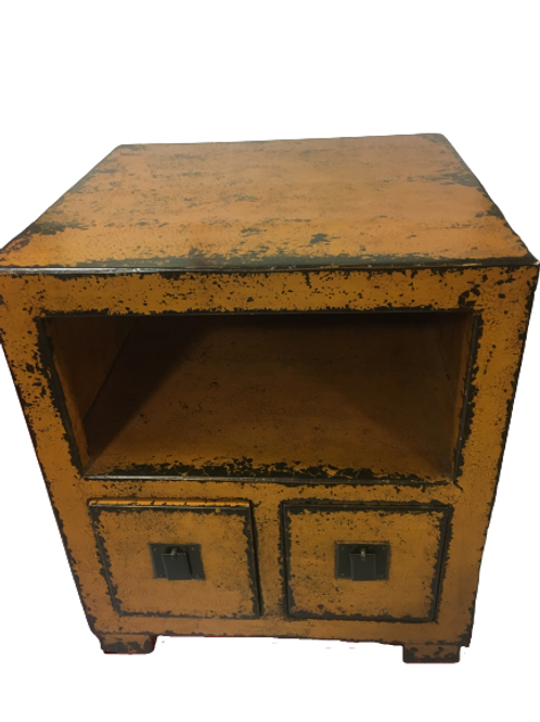 Yellow cabinet with two drawers