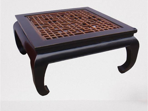Opium style, intricately carved, living room coffee table
