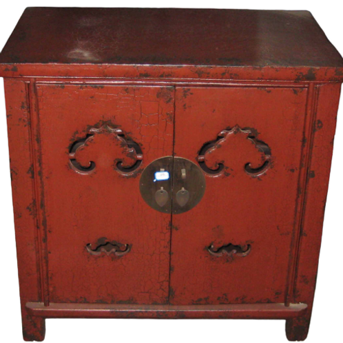 Carved Luck Symbol cabinet with two doors
