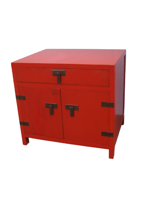 Cabinet with one drawer and two doors (various colours)
