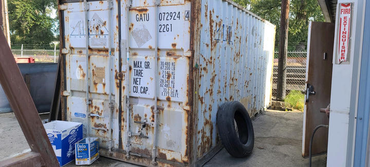 Start with a tired shipping container