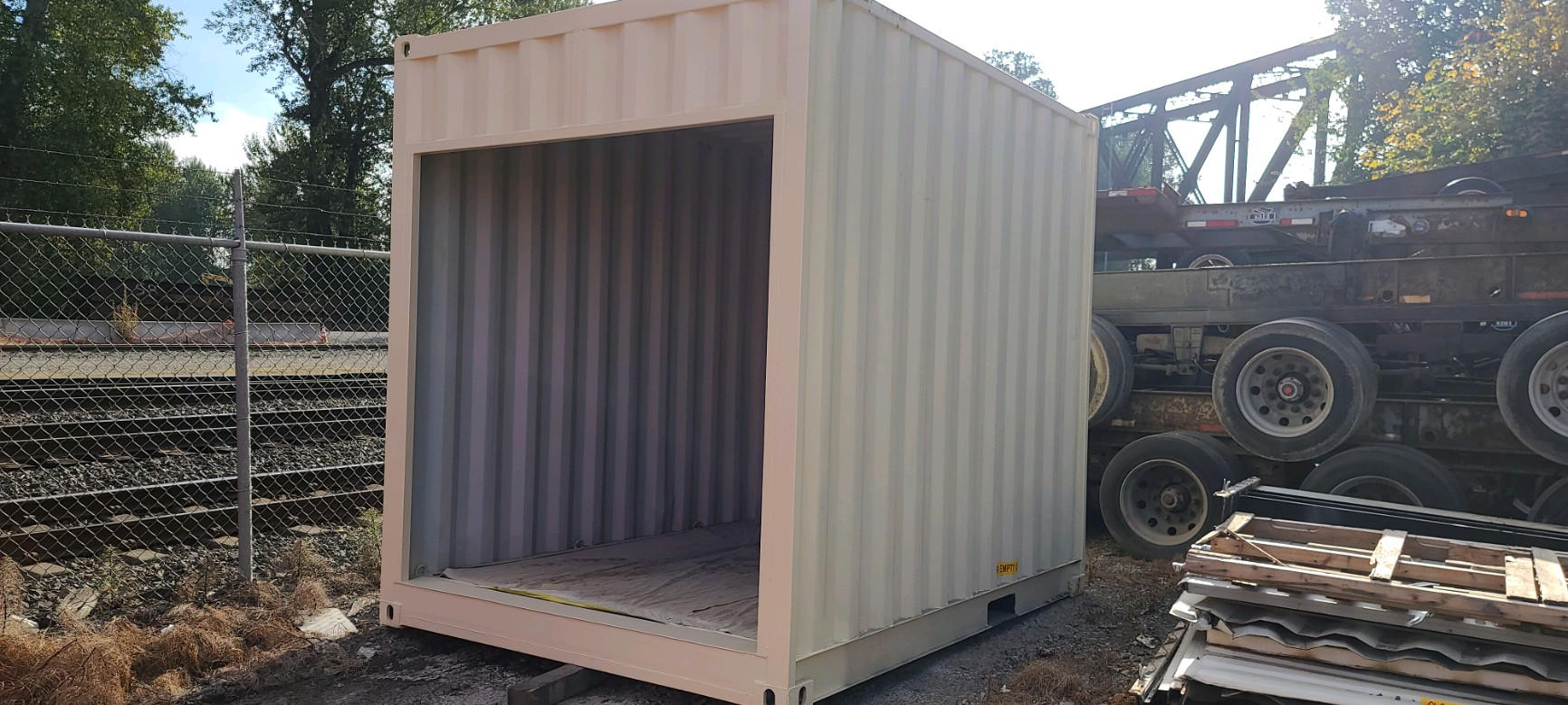 New build custom 10' HC container with roll door