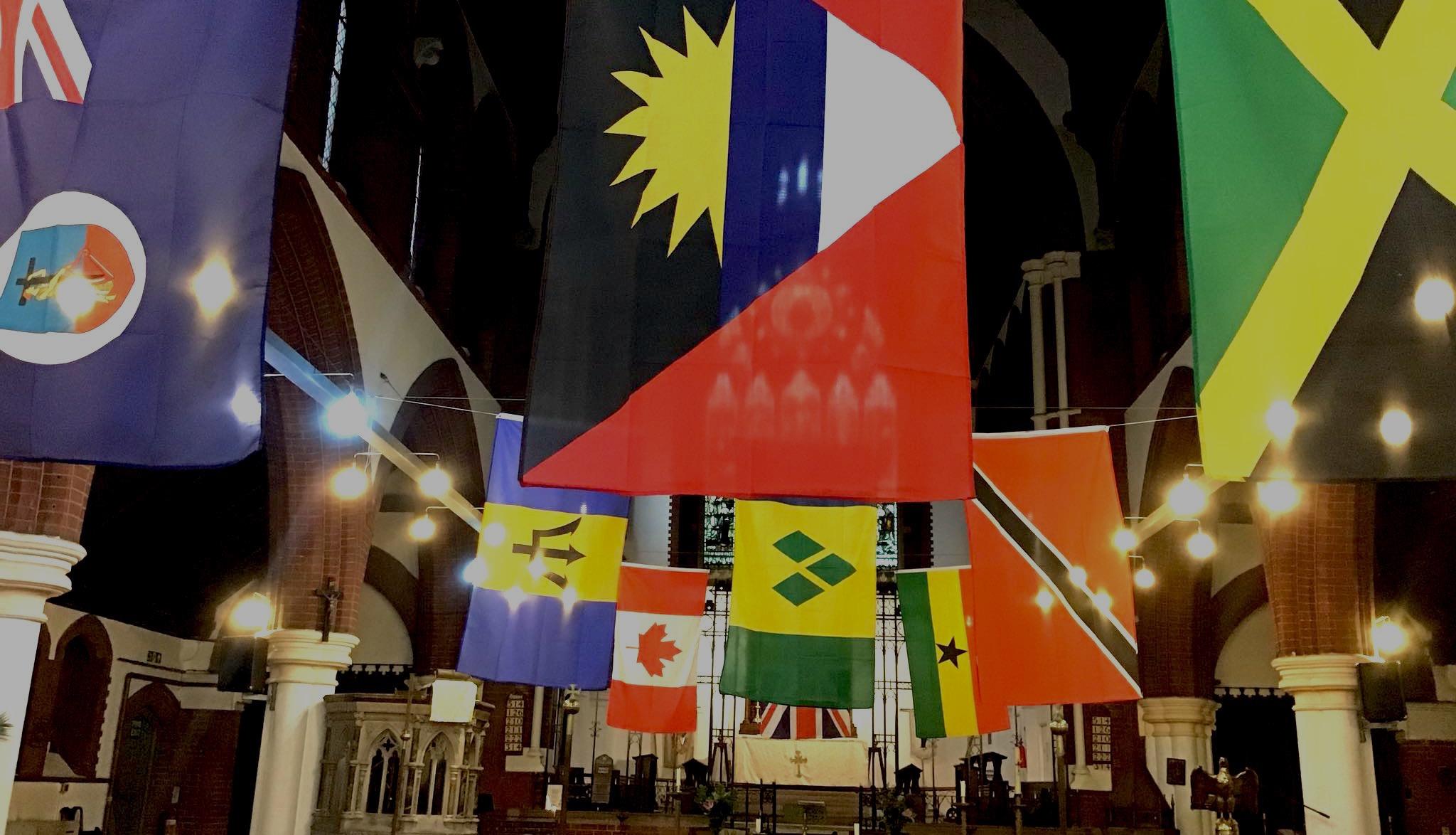 Windrush Sunday flags