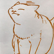 なでなで要求くろちゃん__#cat #illustration #イラストレーシ
