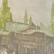 雨、高尾山