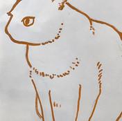かんがえ中のくろちゃん__#cat #illustration #イラストレーシ