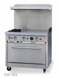 Ecomax by Hobart 2 Burner Gas Range w/ Griddle and 1 standard oven