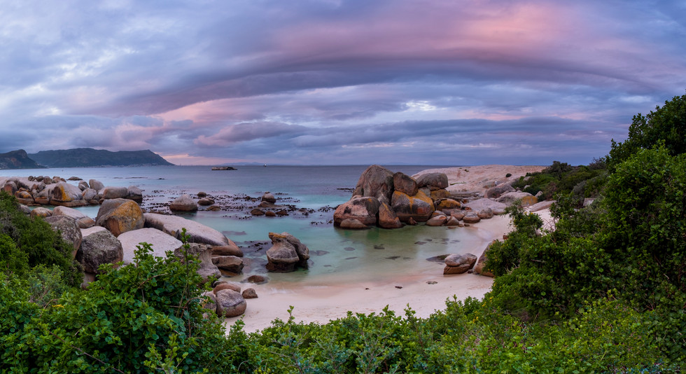 Boulders Beach Sunset Panoramic