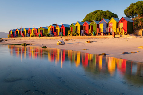 St. James Beach Huts Reflections 1.