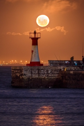Kalk Bay Lighthouse Full Moon 1.