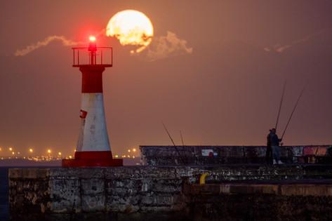 Kalk Bay Lighthouse Full Moon 2.