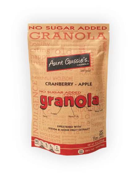 New No Sugar Added Granola Apple Cranberry