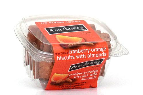 No Sugar Added Cranberry-Orange & Almond Biscuits