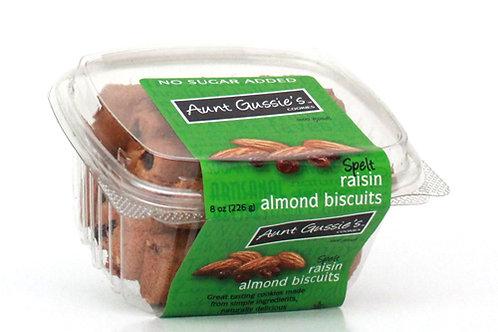 Spelt No Sugar Added Raisin Almond Biscuits