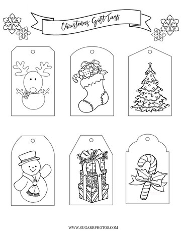 December 2017 Kids Christmas Gift Tags and Puzzle Printables