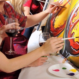 Paint and wine, Puyallup photographer