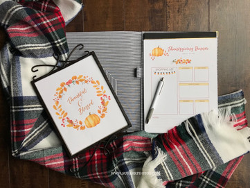 Sugarr Photos: Thanksgiving Meal List Printable