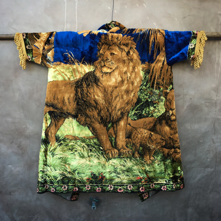 lion rug coat