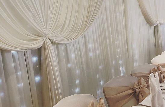Wedding Top Table Backdrop Curtain
