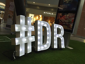 Marquee Light Up Letters NI Hire, Down Royal Racecourse Event, Victoria Square