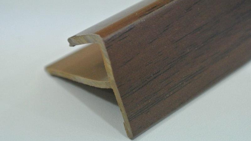 Nosing - F Type (For 8mm panel) Mahogany