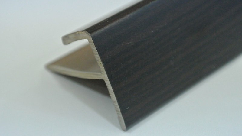 Nosing - F Type (For 8mm panel) African Wenge