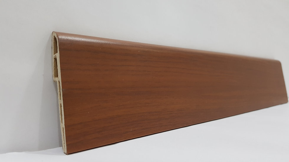 PVC Skirting 70mmH Walnut