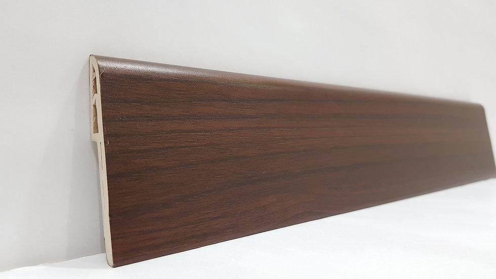 PVC Skirting 70mmH Mahogany