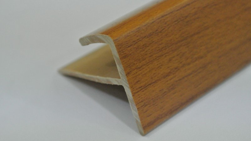 Nosing - F Type (For 8mm panel) Teak